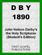 DBY 1890 John Nelson Darby's the Holy Scriptures (Student's Edition)