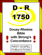 D-R 1750 Douay-Rheims with Strong's Concordance