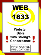 WEB 1833 Webster Bible with Strong's Concordance