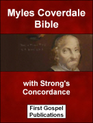 Myles Coverdale Bible with Strong's Concordance
