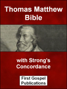 Thomas Matthew Bible with Strong's Concordance