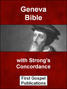 Geneva Bible with Strong's Concordance