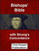 Bishops' Bible with Strong's Concordance